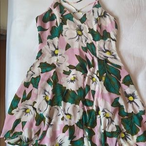 Floral skater dress size L Lucca Couture Hawaiian